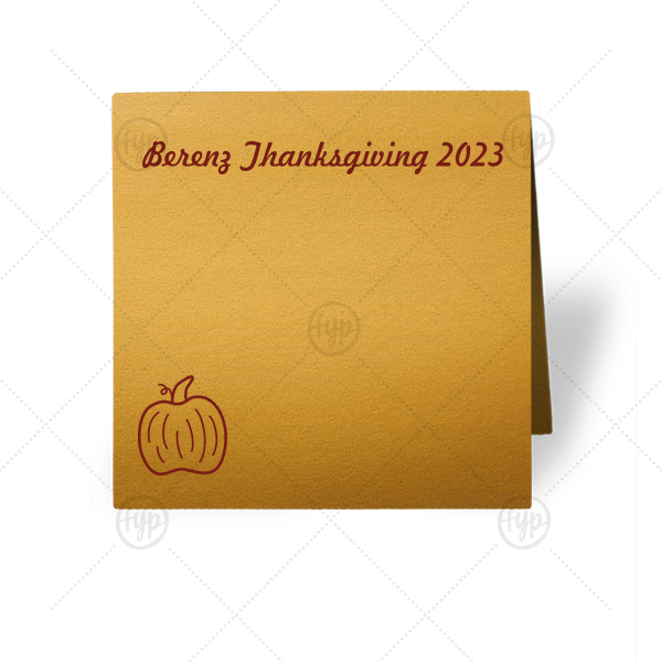 Pumpkin Place Card