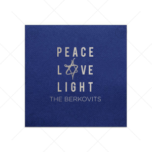 Peace Love Light Napkin