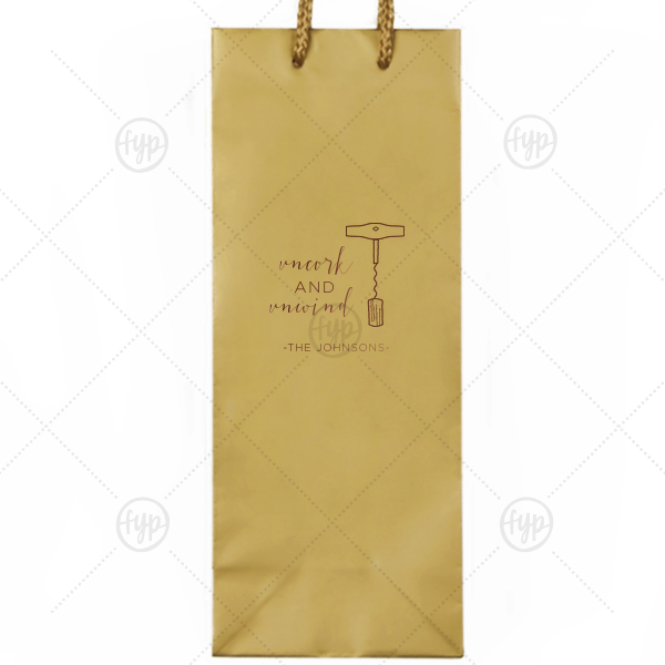 Uncork and Unwind Wine Bag