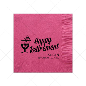 Retirement Tiki Napkin