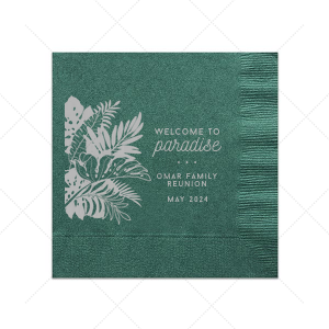 Welcome to Paradise Napkin