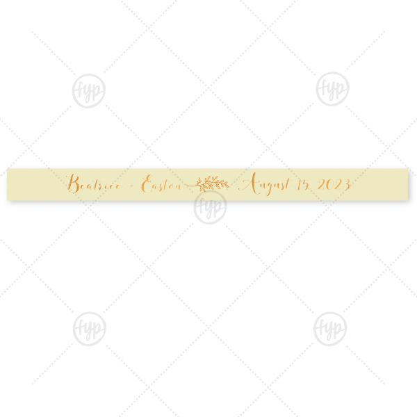 """Crest Initials Ribbon 