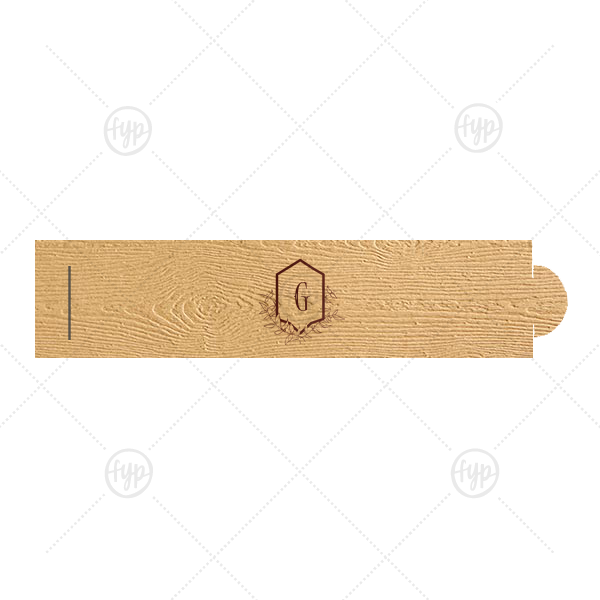 Our personalized Kraft Wood Napkin Ring with Shiny Merlot Foil has a Crest Leaf graphic and is good for use in Rustic, Floral, Wedding themed parties and can be personalized to match your party's exact theme and tempo.
