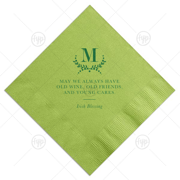 Irish Blessing Napkin