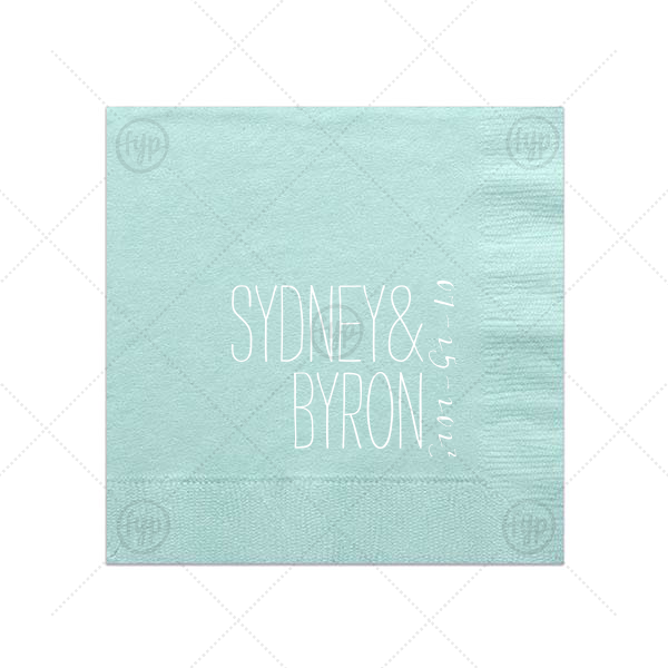For Your Party's elegant Aqua Luncheon Napkin with Matte White Foil Color will look fabulous with your unique touch. Your guests will agree!