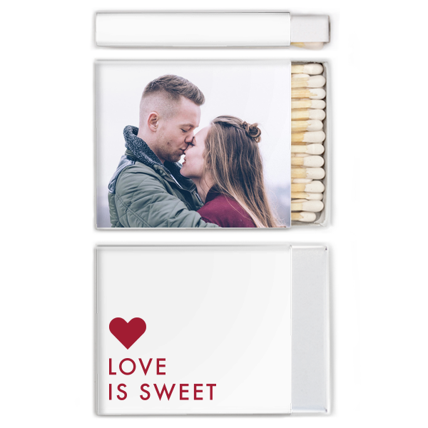 Love is Sweet Photo/Full Color Matchbox