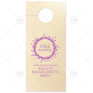 Still Dreaming Confettii Door Hanger