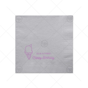 Ice Cream Cone Napkin