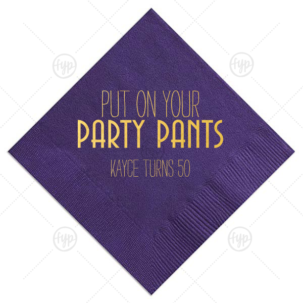 Custom Amethyst Cocktail Napkin with Shiny 18 Kt Gold Foil couldn't be more perfect. It's time to show off your impeccable taste.