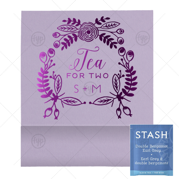 Floral Tea For Two Tea Favor