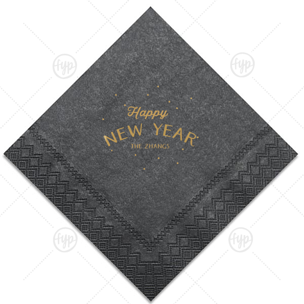Happy New Year Fireworks Napkin