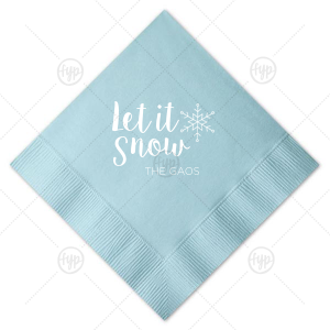 Let It Snow Snowflake Napkin
