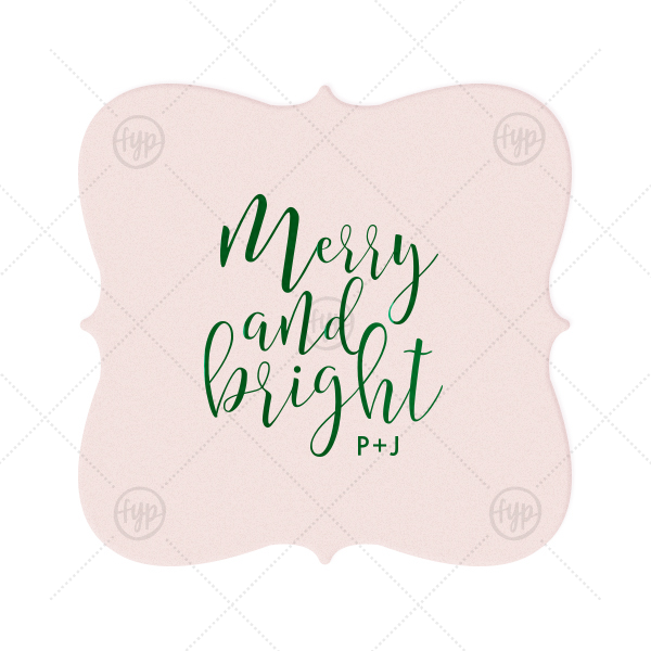 Merry And Bright Coaster  | The ever-popular Blush with Kraft back Nouveau Coaster with Shiny Leaf Foil Color can't be beat. Showcase your style in every detail of your party's theme!