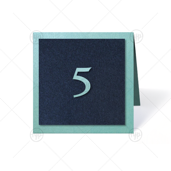 Our custom Stardream Tiffany Blue Duo Tempo Table Number are a must-have for your next event—whatever the celebration!