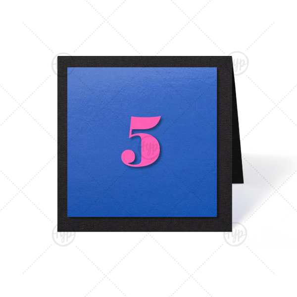 ForYourParty's chic Natural Black Duo Tempo Table Number with Fuscia Paper couldn't be more perfect. It's time to show off your impeccable taste.