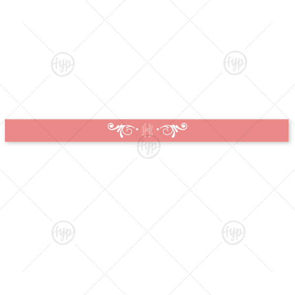 """Sappho Monogram Ribbon 