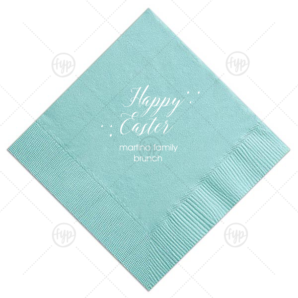 Our beautiful custom Tiffany Blue Cocktail Napkin with Matte White Foil will add that special attention to detail that cannot be overlooked.
