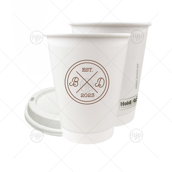 Circle Badge Initials Cup