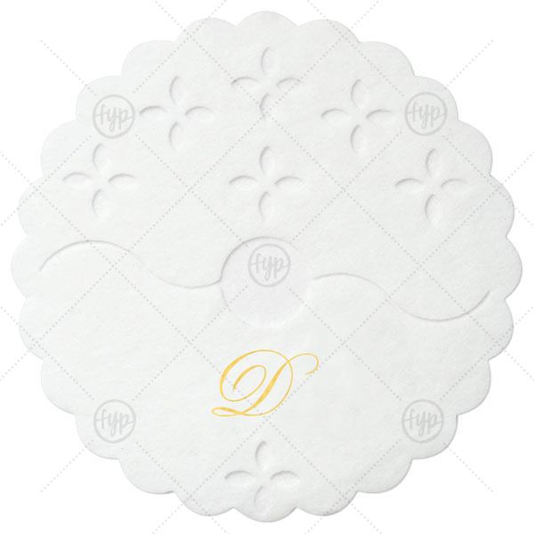 Initial Stem Wrap | ForYourParty's elegant White Stem Wrap with Shiny 18 Kt Gold Foil Color will make your guests swoon. Personalize your party's theme today.