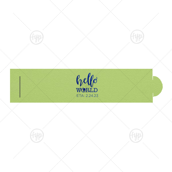 Our beautiful custom Poptone Kiwi Napkin Ring with Shiny Royal Blue Foil Color has a Hello World graphic and is good for use in Travel, Baby Shower themed parties and can be personalized to match your party's exact theme and tempo.