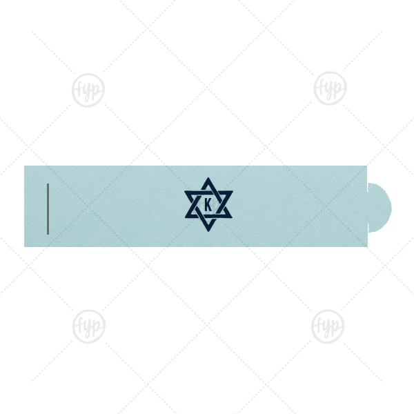 Star of David Napkin Ring | Our custom Poptone Sky Blue Napkin Ring with Matte Navy Foil Color has a Star 1 graphic and is good for use in Star, Jewish themed parties and will impress guests like no other. Make this party unforgettable.