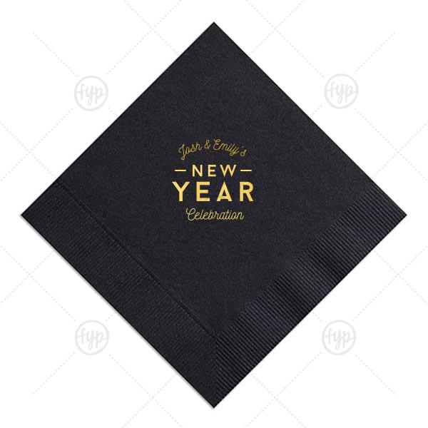 New Year Celebration Napkin |