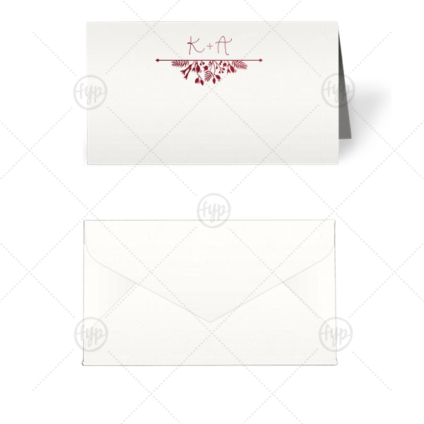 Garden Flourish Tempo Place Card