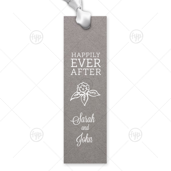 Happily Ever After Flowers Bookmark |