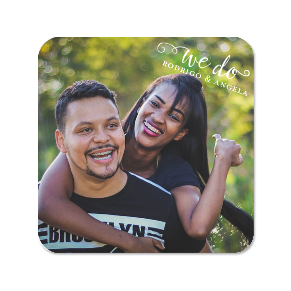 We Do Photo/Full Color Coaster | ForYourParty's personalized Photo/Full Color Coaster with Matte White Ink Digital Print Colors will give your party the personalized touch every host desires.