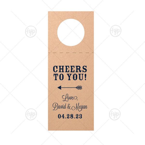 Cheers to You Wine Tag |