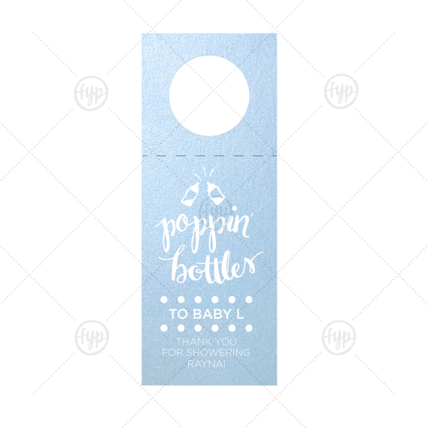 Poppin Bottles wine Tag |