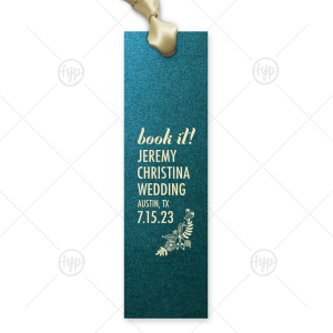 Book It Save the Date Bookmark