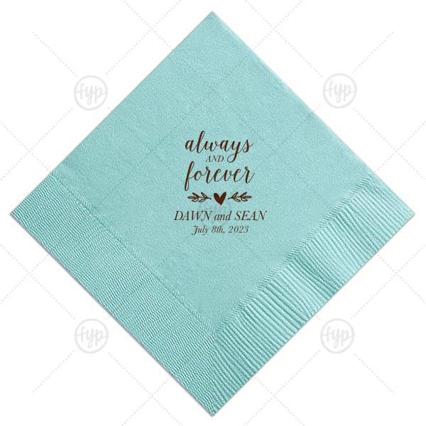 Always And Forever Napkin |
